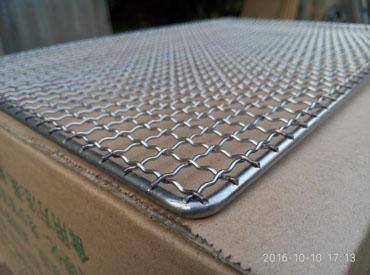 烧烤炉网片45*30不锈钢丝烧烤炉网篦方形烧烤网片
